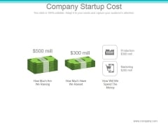 Company Startup Cost Ppt PowerPoint Presentation Layout