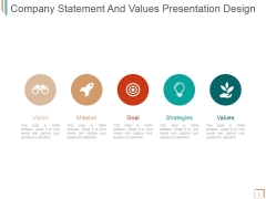Company Statement And Values Ppt PowerPoint Presentation Inspiration