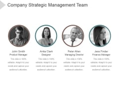 Company Strategic Management Team Ppt PowerPoint Presentation Tips