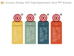 Company Strategy With Target Segmentation Good Ppt Example
