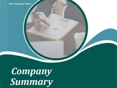 Company Summary Ppt PowerPoint Presentation Complete Deck With Slides