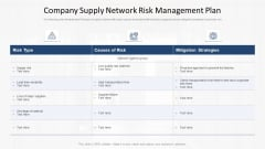 Company Supply Network Risk Management Plan Ppt Icon Outline PDF
