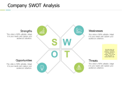 Company Swot Analysis Strangth Threats Ppt PowerPoint Presentation Icon Slide Portrait