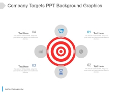 Company Targets Ppt Background Graphics