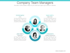 Company Team Managers Ppt PowerPoint Presentation Model