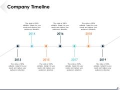 Company Timeline Ppt PowerPoint Presentation Show Slide