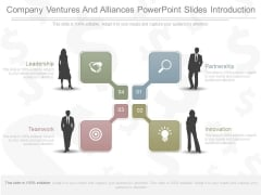 Company Ventures And Alliances Powerpoint Slides Introduction