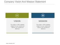 Company Vision And Mission Statement Powerpoint Slide Information