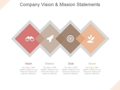 Company Vision And Mission Statements Ppt PowerPoint Presentation Picture