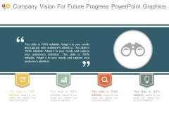 Company Vision For Future Progress Powerpoint Graphics
