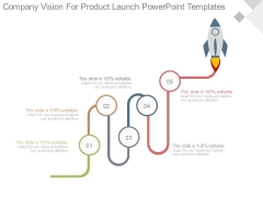 Company Vision For Product Launch Powerpoint Templates