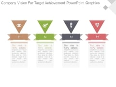 Company Vision For Target Achievement Powerpoint Graphics