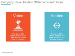 Company Vision Mission Statements With Icons Ppt PowerPoint Presentation Show