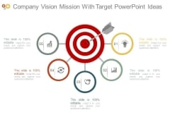 Company Vision Mission With Target Powerpoint Ideas