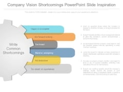 Company Vision Shortcomings Powerpoint Slide Inspiration