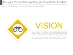 Company Vision Statement Example Powerpoint Templates
