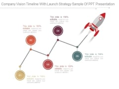 Company Vision Timeline With Launch Strategy Sample Of Ppt Presentation