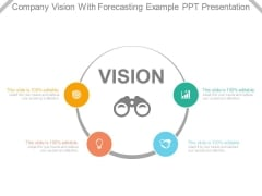 Company Vision With Forecasting Example Ppt Presentation