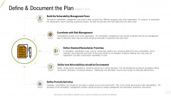 Company Vulnerability Administration Define And Document The Plan Demonstration PDF
