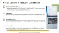 Company Vulnerability Administration Manage Exposure To Discovered Vulnerabilities Introduction PDF