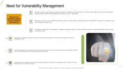 Company Vulnerability Administration Need For Vulnerability Management Introduction PDF