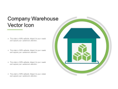Company Warehouse Vector Icon Ppt PowerPoint Presentation File Example Topics PDF