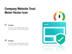 Company Website Trust Meter Vector Icon Ppt PowerPoint Presentation Infographics Example PDF