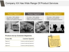 Company Xx Has Wide Range Of Product Services Ppt PowerPoint Presentation Inspiration