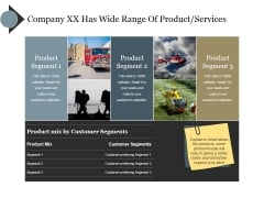 Company Xx Has Wide Range Of Product Services Ppt PowerPoint Presentation Slides Demonstration