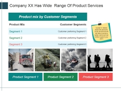 Company Xx Has Wide Range Of Product Services Ppt Powerpoint Presentation Visual Aids Layouts