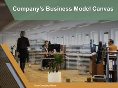 Companys Business Model Canvas Ppt PowerPoint Presentation Complete Deck With Slides