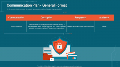 Companys Data Safety Recognition Communication Plan General Format Themes PDF