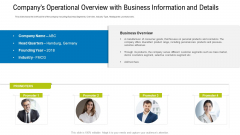 Companys Operational Overview With Business Information And Details Mockup PDF
