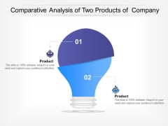 Comparative Analysis Of Two Products Of Company Ppt PowerPoint Presentation Show Shapes PDF