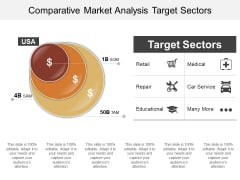 Comparative Market Analysis Target Sectors Ppt PowerPoint Presentation Outline Graphics Pictures