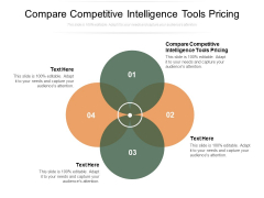 Compare Competitive Intelligence Tools Pricing Ppt PowerPoint Presentation Background Cpb