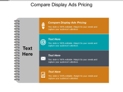 Compare Display Ads Pricing Ppt PowerPoint Presentation Professional Background Designs Cpb