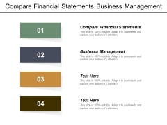 Compare Financial Statements Business Management Ppt PowerPoint Presentation Ideas Icon