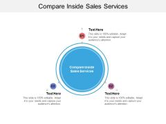 Compare Inside Sales Services Ppt PowerPoint Presentation Slides Structure Cpb Pdf