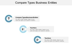 Compare Types Business Entities Ppt PowerPoint Presentation Samples Cpb