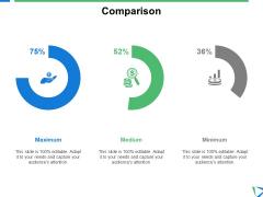Comparison Minimum Ppt PowerPoint Presentation File Visual Aids