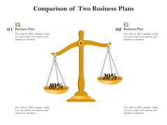 Comparison Of Two Business Plans Ppt PowerPoint Presentation Gallery Slide Download PDF