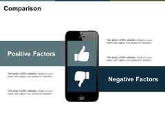 Comparison Positive Factors Ppt PowerPoint Presentation Gallery Mockup