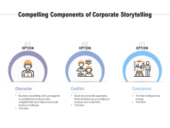 Compelling Components Of Corporate Storytelling Ppt PowerPoint Presentation Show Portfolio