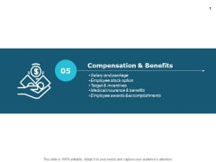 Compensation And Benefits Targets Ppt PowerPoint Presentation Infographics Example File