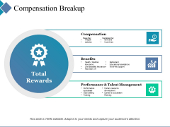 Compensation Breakup Ppt PowerPoint Presentation Styles Visuals
