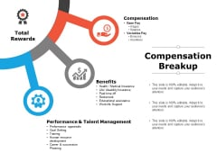 Compensation Breakup Ppt PowerPoint Presentation Summary Show