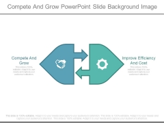 Compete And Grow Powerpoint Slide Background Image