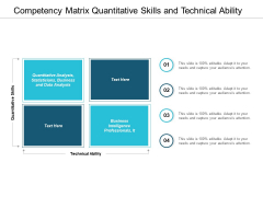Competency Matrix Quantitative Skills And Technical Ability Ppt Powerpoint Presentation Infographics Picture