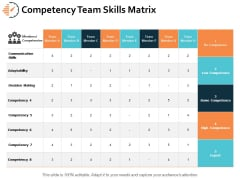 Competency Team Skills Matrix Ppt PowerPoint Presentation Professional Summary